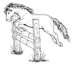 Kleurplaat Spring Paard Kostenlose Malvorlage Pferde Pferd Auf Der