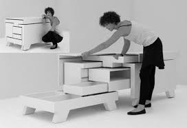 transforming furniture for small spaces. Transforming Drawers Furniture For Small Spaces