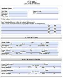 Free Florida Rental Application Pdf Template