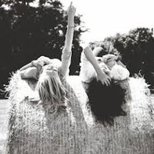 Image result for friends sitting on hay bales