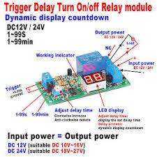 dc 12v adjustable signal trigger delay turn off delay timer switch dc 12v 24v led display relay timing timer switch delay turn on off relay module