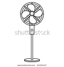 fan clipart black and white. electric fan isolated icon clipart black and white