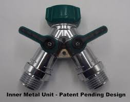 garden hose splitter. 2wayz Garden Hose Splitter - FULL METAL BODY Y Ball Valve Connector Fits With Outdoor