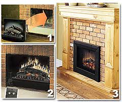Amazoncom Pleasant Hearth LH24 Electric Log Insert With Heater Electric Fireplace Log Inserts
