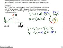 writing a quadratic equation from word problem