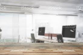 office backdrop. Wooden Counter On Office Backdrop Royalty-free Stock Photo D
