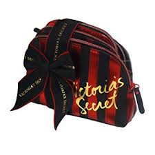 victoria s secret makeup bag trio red and black