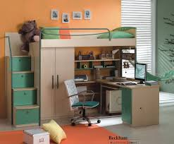 full size loft bed with desk kids