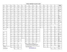 Copic Sketch Marker Color Chart Blank Bedowntowndaytona Com