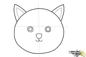 easy cat face drawing. Exellent Cat How To Draw A Simple Cat Face  Step 5 For Easy Drawing