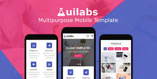 Mobile Website Template Amazing Uilabs Multipurpose Mobile Template By Rabonadev ThemeForest