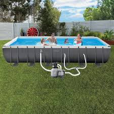 intex above ground pool rectangle. Ultra Frame Pool Rectangular - 24ft Intex Above Ground Rectangle