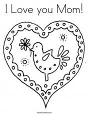 Small Picture That Say I Love You Mom Free Coloring Pages On Masivy World