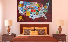 license plate art map print poster on license plate wall art all 50 states with purchase license plate art and license plate maps by design turnpike
