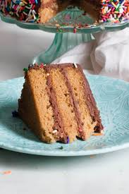 Two options for part whole wheat birthday cake recipes from scratch to replace the boxed cake mix. Healthy Vanilla Birthday Cake With Chocolate Frosting Erin Lives Whole
