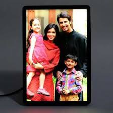 rectangle led personalised photo frame