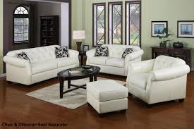 White Leather Chairs For Living Room Poundex Boyn F7370 White Leather Sofa And Loveseat Set Steal A