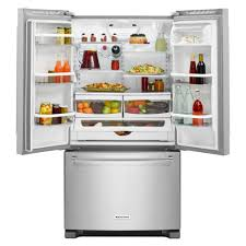 kitchenaid 36 20 cu ft counter depth french door refrigerator with interior water dispenser