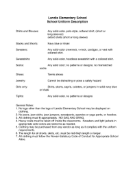 school uniform policy north rowan elementary school school uniform description