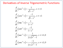 Calculus Inverse Trig Derivatives Solutions Examples