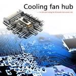 Splitter Cooling Fan Hub PC SATA <b>1 to 8 3Pin</b> 12V Power Socket ...