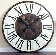 rustic large wall clock inside i com 5d6ced50d decor extra clocks farmhouse oversized kids room ideas oversized farmhouse wall clock