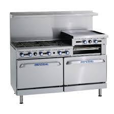 Gas Kitchen Ranges Imperial 6 Burner Griddle Natural Gas Oven Range Ir6rg24 N
