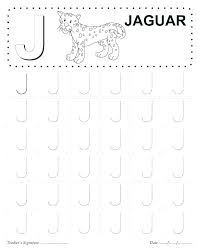 Letter J Worksheets Both Need To Practice Formation Uppercase ...