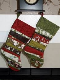 Quilted Christmas Stocking Pattern Amazing His And Hers Scrappy Christmas Stocking Quilt Patterns FaveQuilts
