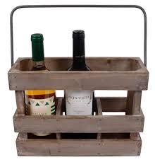 Hline Weinkiste Aus Holz Weinträger Geschenk Für