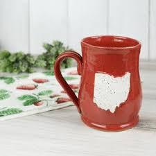 One handmade 16 oz stoneware coffee mug decorative gray blue. Ohio Mug Large 14 Ounce Handmade Ceramic Pottery Ice Dust Pottery