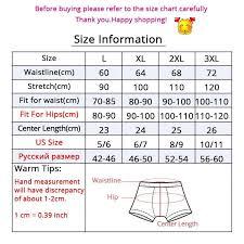 Mens Boxer Brief Size Chart Men Underwear Boxers Cotton Underpants Mens Boxers Plus Size Underwear Mens Panties Breathable Panty Boxershorts Men Pants