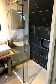2 sided sliding door shower