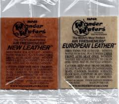 wonder wafers air freshener dual leather 52 pack new european leather