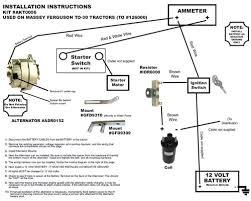 alternator generator conversion massey ferguson to30 tractor akt0006
