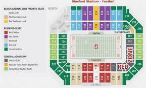 38 Bright Stanford Stadium Seating Chart