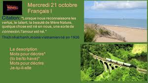 Mercredi 21 Octobre Français I Ppt Télécharger