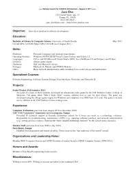 Resume Computer Science Objective Computer Science Technical Skills