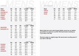 vibram size chart oliberte footwear size chart