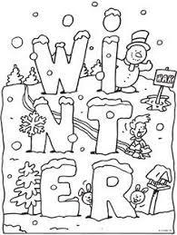 Kleurplaat Winter Met Sneeuw Kleurplatennl Groep 1 2 Winter