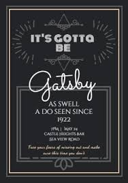 Great Gatsby Invitation Template Gatsby Party Invitation Templates Create Your Own