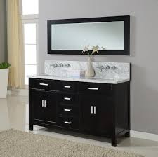 Bunnings Bathroom Vanity 63 Hutton Double Vanity Sink Console With Ebony Finish White