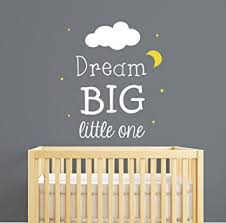 dream big little one nursery wall decal quote nursery wall decal nursery room decor on wall decal quotes for nursery with amazon dream big little one nursery wall decal quote nursery