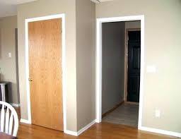 white doors with wood trim black