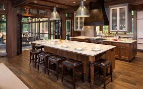 Interesting Kitchens With Island Stoves In A Sprawling Rusticstyled Home We Find This To Decor