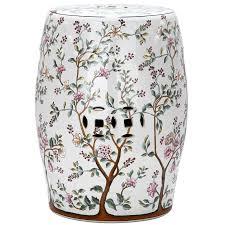 safavieh 18 5 in white ceramic barrel chinese garden stool