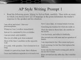 confessional movement ppt video online 18 ap style writing prompt 1 the following poem mirror by sylvia plath