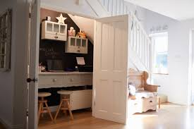 Small home office designs White Hows This For An Efficient Home Office Its Closet Built Under Staircase Doragoram 45 Small Home Office Design Ideas photos