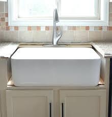 trending farm sink installation y9666197