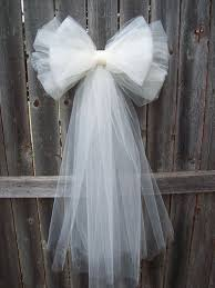 tulle diy wedding decor tulle decorations ideas projects on tulle pew bow wedding formal aisle decor